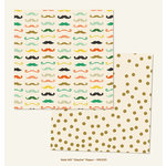 My Mind's Eye - Market Street Collection - Nob Hill - 12 x 12 Double Sided Paper - Stache