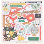 My Mind's Eye - Market Street Collection - Nob Hill - 12 x 12 Chipboard Stickers