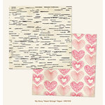 My Mind's Eye - My Story Collection - 12 x 12 Double Sided Paper - Heart Strings
