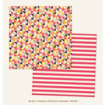My Mind's Eye - My Story Collection - 12 x 12 Double Sided Paper with Foil Accents - Grandma's Quilt