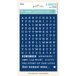 My Mind's Eye - Necessities Collection - Blues - Cardstock Stickers - Tiny Alphabets and Words