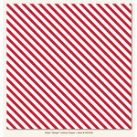 My Mind's Eye - Necessities Collection - Reds - 12 x 12 Vellum Paper - Stripe