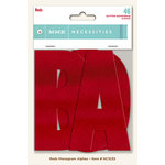 My Mind's Eye - Necessities Collection - Reds - Monogram Alphabets