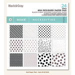My Mind's Eye - Necessities Collection - Black and Gray - 6 x 6 Paper Pad