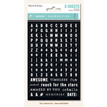 My Mind's Eye - Necessities Collection - Black and Gray - Cardstock Stickers - Tiny Alphabets and Words