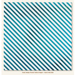 My Mind's Eye - Necessities Collection - Teals - 12 x 12 Vellum Paper with Foil Accents - Stripe