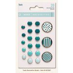 My Mind's Eye - Necessities Collection - Teals - Decorative Brads