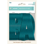 My Mind's Eye - Necessities Collection - Teals - Monogram Alphabets