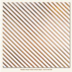 My Mind's Eye - Necessities Collection - Metallic - 12 x 12 Vellum Paper with Foil Accents - Stripe