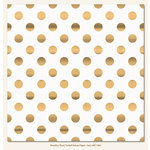 My Mind's Eye - Necessities Collection - Metallic - 12 x 12 Vellum Paper with Foil Accents - Dot