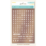 My Mind's Eye - Necessities Collection - Metallic - Cardstock Stickers - Tiny Alphabets and Words