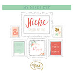 My Mind's Eye - Niche Collection - On Trend - 12 x 12 Gallery Art Pad with Foil Accents
