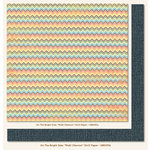 My Mind's Eye - On The Bright Side Collection - One - 12 x 12 Double Sided Paper - Multi Chevron
