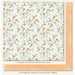My Mind's Eye - On The Bright Side Collection - Two - 12 x 12 Double Sided Paper - Small Floral Things