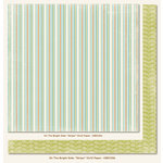 My Mind's Eye - On The Bright Side Collection - Two - 12 x 12 Double Sided Paper - Stripe