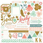 My Mind's Eye - On Trend Collection - Cool - 12 x 12 Chipboard Stickers with Foil Accents