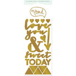 My Mind's Eye - On Trend Collection - Awesome - Cardstock Stickers with Foil Accents