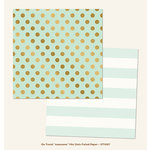 My Mind's Eye - On Trend Collection - Awesome - 12 x 12 Double Sided Paper with Foil Accents - Mini Dots