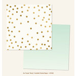 My Mind's Eye - On Trend Collection - Party - 12 x 12 Double Sided Paper with Foil Accents - Confetti