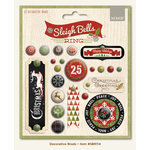 My Mind's Eye - Sleigh Bells Ring Collection - Christmas - Decorative Brads