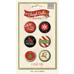 My Mind's Eye - Sleigh Bells Ring Collection - Christmas - Flair Pins