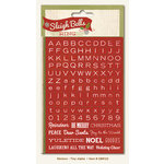 My Mind's Eye - Sleigh Bells Ring Collection - Christmas - Cardstock Stickers - Tiny Alphabets and Words