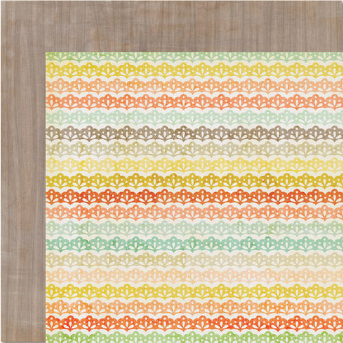 My Mind's Eye - The Sweetest Thing Collection - Tangerine - 12 x 12 Double Sided Paper - Happy Woodsy