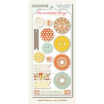 My Mind's Eye - The Sweetest Thing Collection - Tangerine - Decorative Buttons - Hello