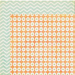 My Mind's Eye - The Sweetest Thing Collection - Tangerine - 12 x 12 Double Sided Paper - Hello Wishes