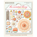 My Mind's Eye - The Sweetest Thing Collection - Tangerine - Decorative Brads - Sunshine