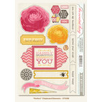 My Mind's Eye - The Sweetest Thing Collection - Honey - Chipboard Stickers - Perfect Elements