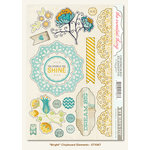 My Mind's Eye - The Sweetest Thing Collection - Bluebell - Chipboard Stickers - Bright Elements