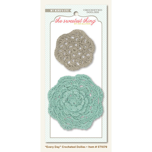 My Mind's Eye - The Sweetest Thing Collection - Bluebell - Crocheted Doilies - Every Day
