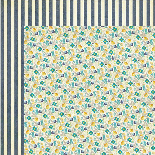 My Mind's Eye - The Sweetest Thing Collection - Bluebell - 12 x 12 Double Sided Paper - Every Day Garden
