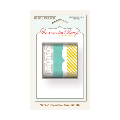 My Mind's Eye - The Sweetest Thing Collection - Bluebell - Decorative Tape - Smile