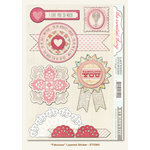 My Mind's Eye - The Sweetest Thing Collection - Lavender - 3 Dimensional Stickers - Fabulous