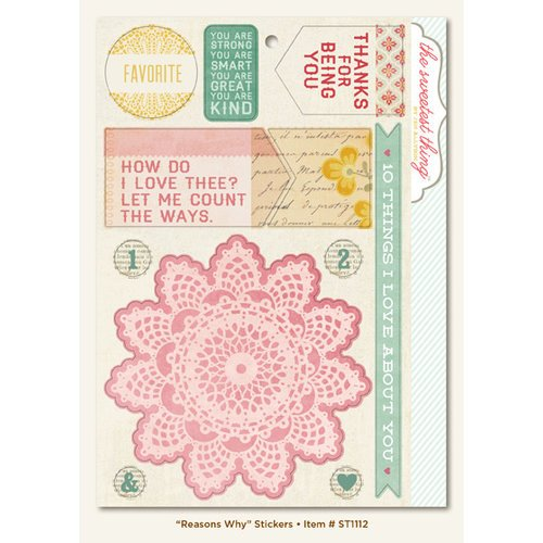 My Mind's Eye - The Sweetest Thing Collection - Lavender - Cardstock Stickers - Reasons Why