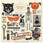 My Mind's Eye - Something Wicked Collection - Halloween - 12 x 12 Chipboard Stickers - Elements