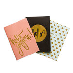 My Mind's Eye - Trend Collection - Notebooks with Gold Foil Accents