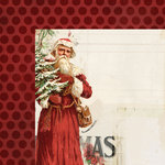 My Mind's Eye - Vintage Christmas Collection - 12 x 12 Double Sided Paper - Santa