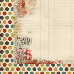 My Mind's Eye - Vintage Christmas Collection - 12 x 12 Double Sided Paper - Multi Dot