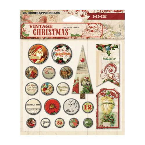 My Mind's Eye - Vintage Christmas Collection - Decorative Brads