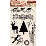 My Mind's Eye - Vintage Christmas Collection - Clear Acrylic Stamps