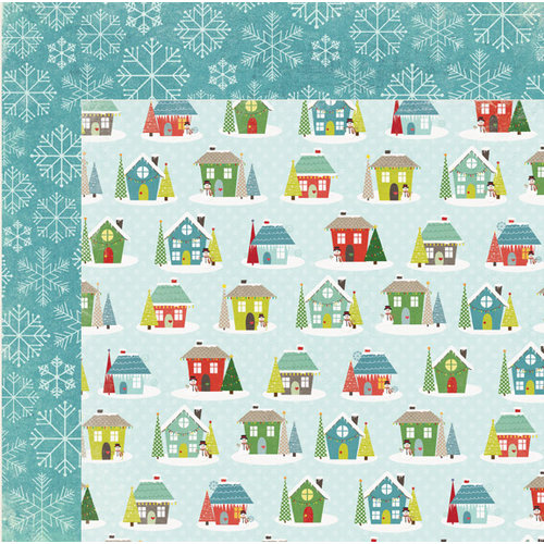 My Mind's Eye - Winter Wonderland Collection - Christmas - 12 x 12 Double Sided Paper - In the Neighborhood