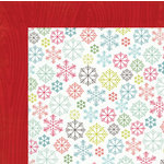 My Mind's Eye - Winter Wonderland Collection - Christmas - 12 x 12 Double Sided Paper - Flakes