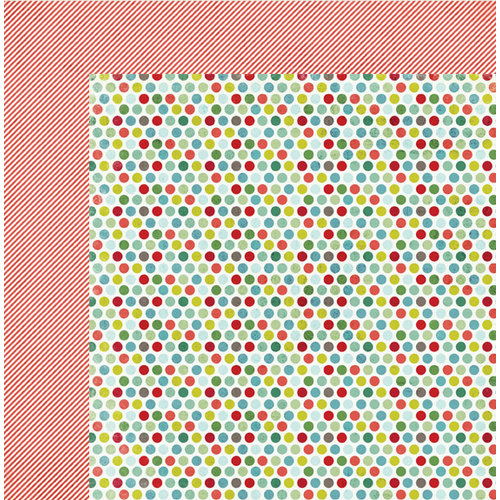 My Mind's Eye - Winter Wonderland Collection - Christmas - 12 x 12 Double Sided Paper - Polka Dots