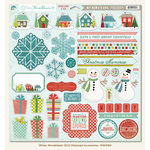 My Mind's Eye - Winter Wonderland Collection - Christmas - 12 x 12 Chipboard Stickers - Elements