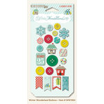 My Mind's Eye - Winter Wonderland Collection - Christmas - Decorative Buttons