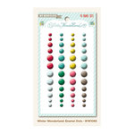 My Mind's Eye - Winter Wonderland Collection - Christmas - Self Adhesive Enamel Dots