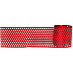 Magic Mesh - Dotty Ann Adhesive Mesh - Holiday Red